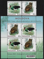 "MOLDAVIA /MOLDOVA /MOLDAWIEN  -EUROPA 2021 -ENDANGERED NATIONAL WILDLIFE""- SERIE - N + HOJITA BLOQUE - 2020"