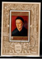 HUNGARY-1971.Souv.Sheet - Albrecht Dürer - Portrait Of A Man / Painting / Mi Bl.81.(DH4)  USED!!! - Gebraucht