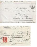 2 Cartes En Franchise Adréssées à GASTON LOUIS VUITTON Octobre Et Novembre 1916   Texte   TB - WW I
