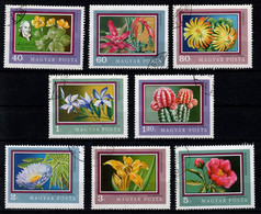 HUNGARY - 1971.Flowers From The Botanical Gardens Cpl.Set (DH4)   USED!! Mi. :2695-2702. - Gebraucht