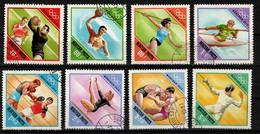 HUNGARY - 1972. Summer Olympics,Munich Cpl.Set (DH4)   USED!! Mi.:2773-2780. - Gebraucht