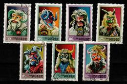 HUNGARY - 1973. Busho Masks Cpl.Set  (DH4) USED!! Mi: 2838-2844. - Gebraucht
