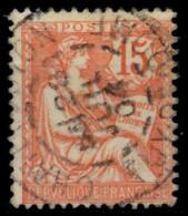 FRANKREICH 1902 Nr 103 Zentrisch Gestempelt X8307F6 - Gebruikt