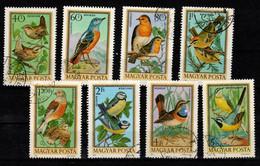 HUNGARY 1973. Birds Cpl.Set Mi:2855-2862. (DH4)  USED!!! - Gebraucht
