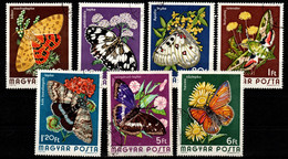 HUNGARY - 1974. Cpl.Set - Butterflies  (DH4)  USED!!! Mi:2994-3000. - Gebraucht