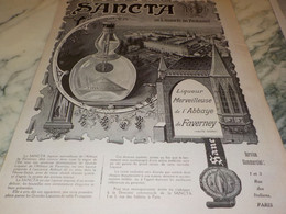 ANCIENNE PUBLICITE BOISSON LIQUEUR SANCTA DE L ABBAYE DE FAVERNEY 1920 - Alcools