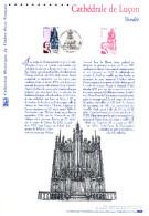 """(Prix à La Poste = 5 €) """" CATHEDRALE DE LUCON """" Sur Document Philatélique Officiel De 2004 N° YT 3712. DPO - Eglises Et Cathédrales"""