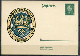 """German Empires 1931 Gedenkganzsache Oberschlesien Mi.Nr.P190 """"10.Jahrestag Der Oberschlesien Volksabst.""""1 GS Ungebraucht - Interi Postali"""