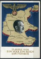 """German Empires 1938 Propaganda GS Mi.Nr.P268""""Anschluß Österreich""""mit SST"""" Mülheim A.d.Ruhr"""" Nach Witten-Annen """"1 GS Used - Interi Postali"""