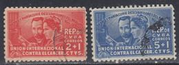 Cuba, Scott #B1-B2, Used, Curie Issue, Issued 1938 - Used Stamps