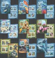 ST316,17,19,25-28,32,2905 2016 SIERRA LEONE FAUNA BIRDS BUTTERFLIES MARINE LIFE 9BL+9KB MNH - Autres