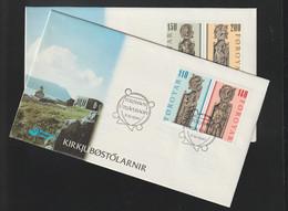 Faroe Islands FDC 1980 Kirkjubøstolarnir - Two Covers (G133-44) - Isole Faroer