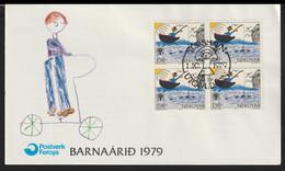 Faroe Islands FDC 1979 International Year Of Children (G133-44) - Isole Faroer