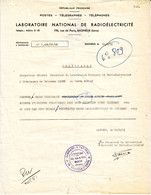 PAUL EMILE VICTOR Lettre TELEGRAMME METEO Des EXPEDITIONS POLAIRES SIGNE PEV ,1 Mai 1951 , Terre Adelie TAAF - Autographes