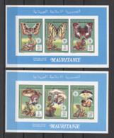 Mauritania Butterflies Mushrooms Scouts Setas Pilze 1990 2v COLL. IMP. MNH - Mushrooms