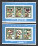 Mauritania Butterflies Mushrooms Scouts Setas Pilze 1990 2v COLL. MNH - Mushrooms