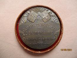 Suisse: Médaille Commémoration Du Centenaire Des Communes Réunies - Carouge 1925 - Non Classés