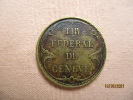 Suisse: Jeton Tir Fédéral Genève 1851 - Non Classificati