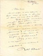 ROLAND DORGELES , Superbe Lettre AUTOGRAPHE SIGNEE Datee De BARBIZON ...... - 1901-1940
