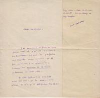 MARCEL JOUHANDEAU , Superbe Lettre   AUTOGRAPHE ,  SIGNEE , 1943 - Autographs