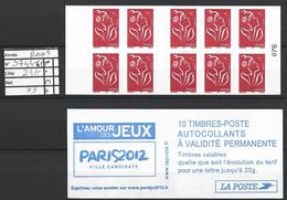 ANNEE 2005. SPLENDIDE LOT DE LUXE CARNET. Non Pliée, Neuf (**) N° 3477-C1 (75), Gomme D'origine. Côte 23.00 €. - Unused Stamps