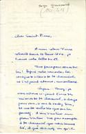 SERGE GROUSSARD , Superbe Lettre   AUTOGRAPHE SIGNEE ( Le Figaro ) à MICHEL DE SAINT PIERRE , 1961 - Autographs