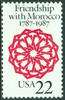 UNITED STATES OF AMERICA 1987 RELATIONS WITH MOROCCO** (MNH) - Ungebraucht