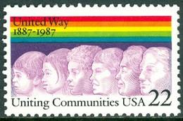 UNITED STATES OF AMERICA 1987 UNITED WAY** (MNH) - Ungebraucht