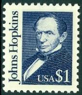 UNITED STATES OF AMERICA 1989 GREAT AMERICANS, $1 INTENSE DARK BLUE JOHNS HOPKINS** (MNH) - Ungebraucht