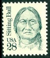 UNITED STATES OF AMERICA 1989 GREAT AMERICANS, 28c SITTING BULL** (MNH) - Ungebraucht