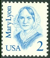 UNITED STATES OF AMERICA 1987 GREAT AMERICANS, 2c MARY LYON** (MNH) - Ungebraucht