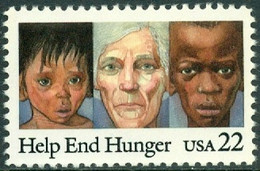 UNITED STATES OF AMERICA 1985 HELP END HUNGER** (MNH) - Ungebraucht