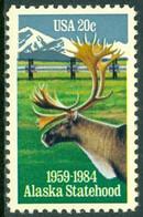 UNITED STATES OF AMERICA 1984 ALASKA STATEHOOD, CARIBOU** (MNH) - Ungebraucht