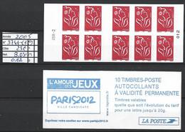 ANNEE 2005. SPLENDIDE LOT DE LUXE CARNET. Non Pliée, Neuf (**) N° 3744-C1 (12), Gomme D'origine. Côte 23.00 €. - Unused Stamps