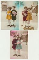 Lot De 3 Cartes Fantaisie - Enfant - Courrier - Boîte Aux Lettres - Postes - Bonne Fête - Bonne Année... - Scènes & Paysages