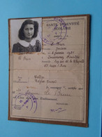Carte D'Identité SCOLAIRE Rép. Française ( Le Brun Josiane 6-1-1931 St. Ouen ) 19?? (voir Photo) ! - Unclassified