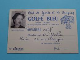 3 Cartes Membre De La Famille VALLE Paris Rue Bergère ( GOLFE BLEU Salle Pleyel ) 19?? ( Voir Photo ) ! - Apparel, Souvenirs & Other