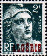 Algérie Poste N** Yv:237/241 Marianne De Gandon Surcharge Algérie Voir Détail - Unused Stamps