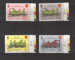 10219- Isle Of Man, UK, Stanley Gibbons 35-38 MNH ** - Trains, Railway - Man (Insel)