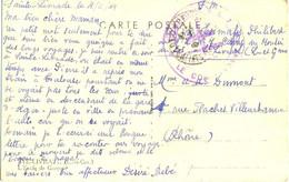 GUERRE 39-45 CACHET COMPAGNIE N. L. 7 Avec CROIX De LORRAINE - STE LIVRADE  LOT-ET-GARONNE Le 4-11-44 - WW II