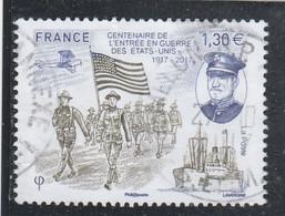 FRANCE 2017 CENTENAIRE GUERRE ETATS UNIS OBLITERE YT 5156 - (note) - Used Stamps