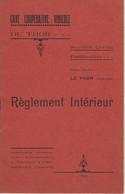 84 LE THOR CAVE COOPERATIVE VINICOLE REGLEMENT INTERIEUR 1931 SOCIETE CIVILE VAUCLUSE - Colecciones