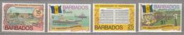 BARBADOS 1976 Independence Anniversary MNH(**) Mi 413-416 #27517 - Barbados (1966-...)