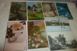 """LOT DE   8 ILLUSTRATIONS...""""PAYSAGES DE CAMPAGNE"""" ... - 5 - 99 Cartoline"""