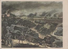CARTE PROPAGANDE ALLEMANDE GUERRE 39-45 - MOTORISIERTE ARTILLERIE - ARTILLERIE MOTORISÉE - War 1939-45
