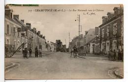CHAMPTOCE La Rue Nationale Vers Le Château - Autres Communes