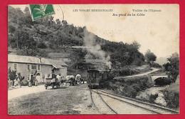 AD419 HAUTE SAONE 70 DEPART TRAMWAY VAPEUR LIGNE DE LA MURE VALLEE DE L'OGNON AU PIED DE LA COTE EN 1908 - Otros Municipios
