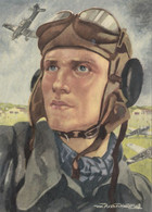 CARTE PROPAGANDE ALLEMANDE GUERRE 39-45 - PILOTE ALLEMAND - AVIATION - War 1939-45