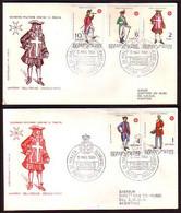 MALTE ( Ordre De ) - 1969 - Uniformes - 2 FDC - Voiage - Malta (la Orden De)