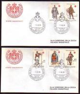 MALTE ( Ordre De ) - 1979 - Uniformes - 2 FDC - Voiage - Malta (la Orden De)